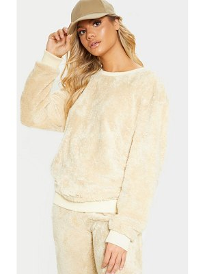 PrettyLittleThing fleece oversized sweater
