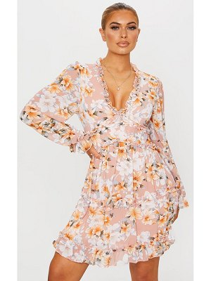 PrettyLittleThing floral frill smock dress