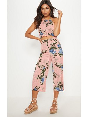 PrettyLittleThing floral printed culotte