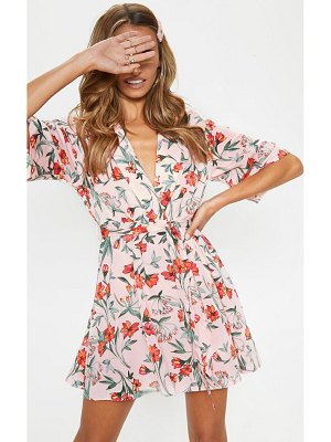 PrettyLittleThing floral tea dress