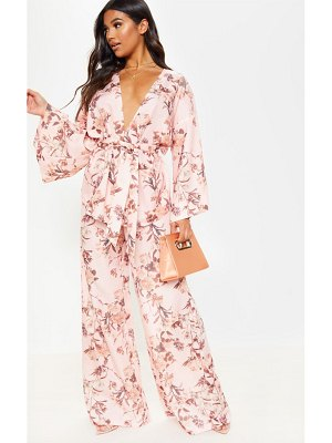 PrettyLittleThing floral wide leg pants