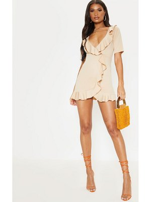 PrettyLittleThing frill detail wrap dress