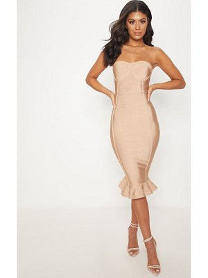 PrettyLittleThing frill hem bandage midi dress