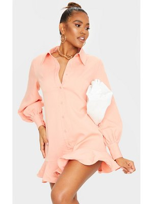 PrettyLittleThing frill hem shirt dress