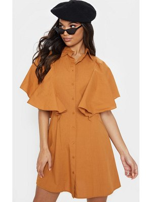 PrettyLittleThing frill shoulder shirt dress