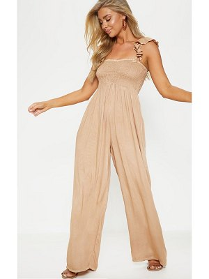 PrettyLittleThing frill strap beach jumpsuit