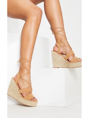 PrettyLittleThing ghillie lace up espadrille wedge