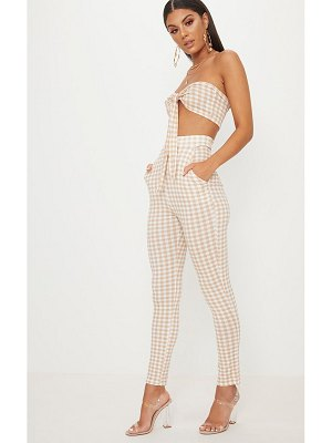 PrettyLittleThing gingham skinny pants