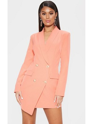 PrettyLittleThing gold button blazer dress