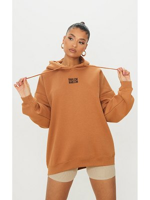 PrettyLittleThing harlem embroidered hoodie