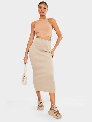 PrettyLittleThing heavy rib bodycon maxi skirt