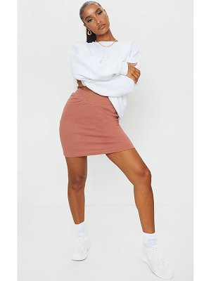 PrettyLittleThing heavy rib mini skirt