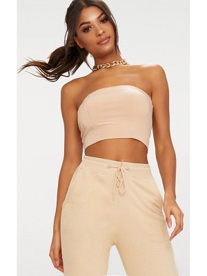 4636f8040ee7f PrettyLittleThing Bandeau Applique Mesh Crop Top