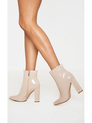 PrettyLittleThing high block heel point ankle boot