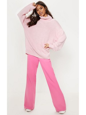 PrettyLittleThing high neck fluffy knit sweater