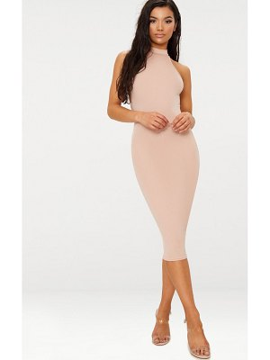 PrettyLittleThing high neck midi dress