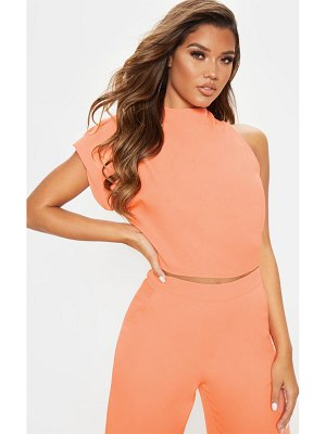 PrettyLittleThing high neck one shoulder blouse