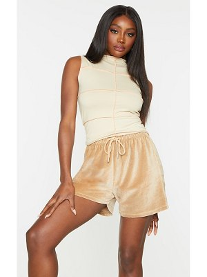 PrettyLittleThing high neck overlock seam sleeveless top