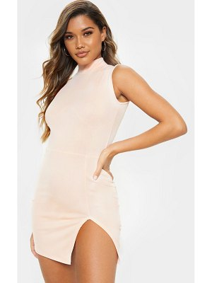 PrettyLittleThing high neck sleeveless bodycon dress