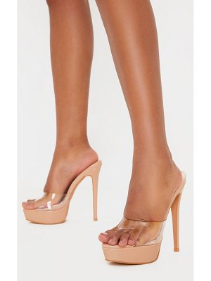 PrettyLittleThing high platform clear mule sandals