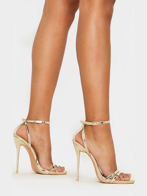 PrettyLittleThing high strappy sandal