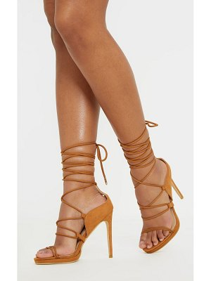 PrettyLittleThing hiker lace up tie heeled sandal