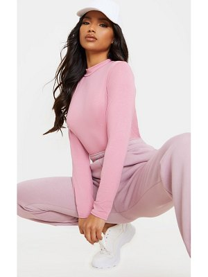 PrettyLittleThing jersey high neck long sleeve top