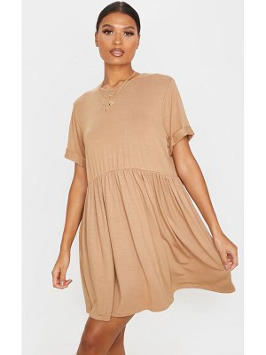 PrettyLittleThing jersey oversized smock dress