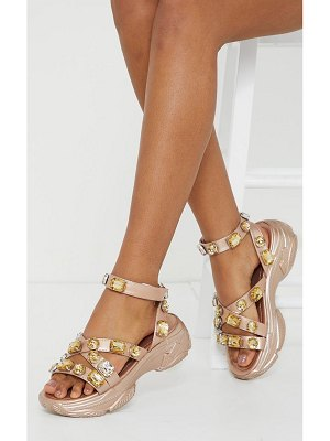 PrettyLittleThing jewel embellished chunky sport sandals