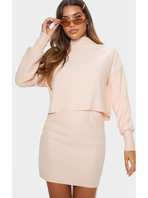 PrettyLittleThing jumbo rib high neck long sleeve sweater