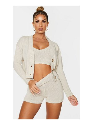 PrettyLittleThing knitted button crop cardigan