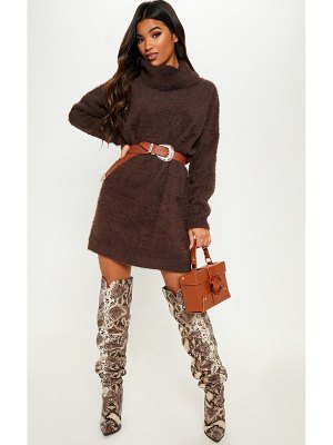 PrettyLittleThing knitted high neck jumper dress