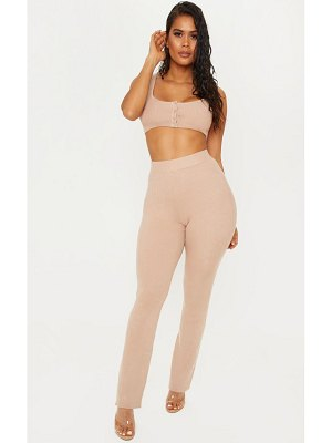 PrettyLittleThing knitted trouser and crop co ord
