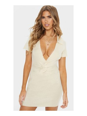 PrettyLittleThing knitted twist front dress
