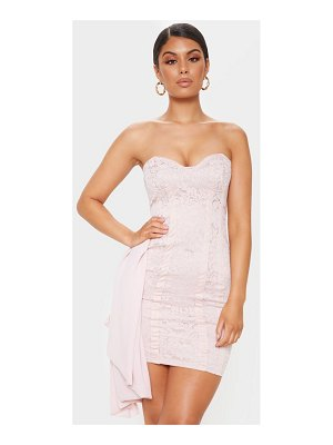 PrettyLittleThing lace bandeau bodycon dress