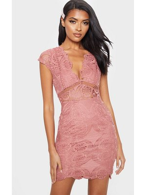 PrettyLittleThing lace bodycon cap sleeve dress