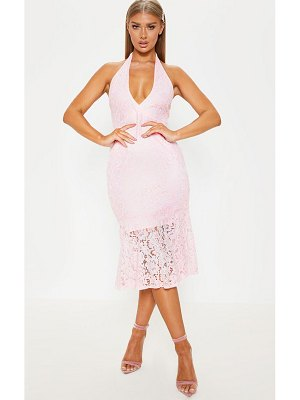 PrettyLittleThing lace halter midi dress
