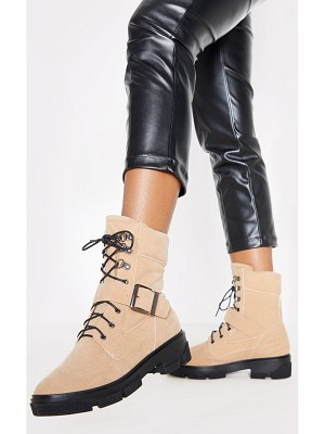PrettyLittleThing lace up buckle strap ankle boot