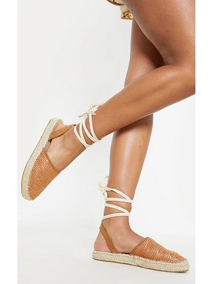 PrettyLittleThing lace up espadrille flat sandal
