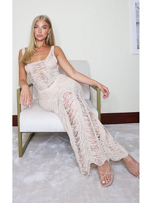 PrettyLittleThing ladder detail knitted maxi dress