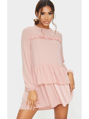 PrettyLittleThing layered frill smock dress