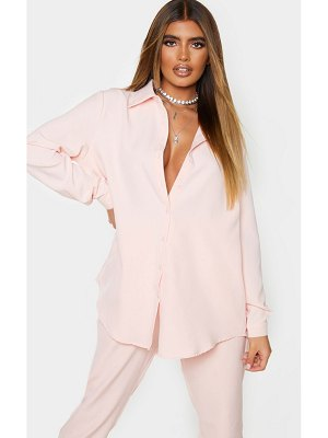 PrettyLittleThing light pink oversized shirt