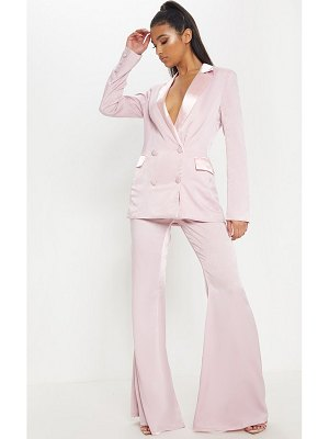 PrettyLittleThing light pink tailored extreme flared pants