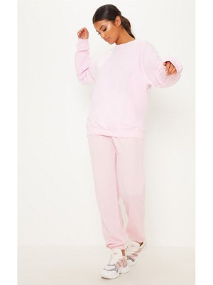 PrettyLittleThing baby pink ultimate oversized sweater