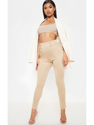 PrettyLittleThing lion head button detail skinny pants