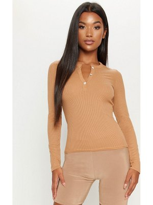 PrettyLittleThing long sleeve rib button top