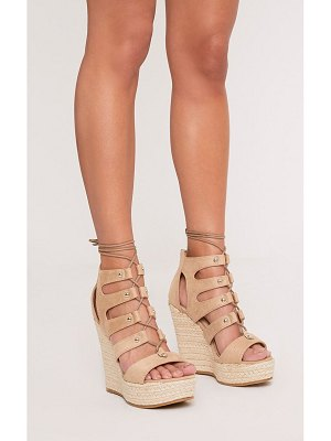 PrettyLittleThing louisella lace up wedges