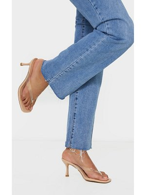 PrettyLittleThing low heel tie thong heeled mules