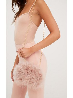 PrettyLittleThing marabou feather clutch bag