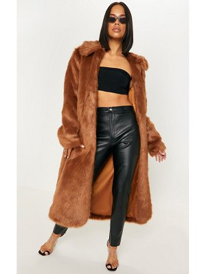 PrettyLittleThing maxi faux fur coat